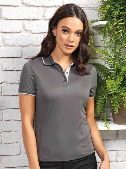 PW619 farbiges Contrast Coolchecker® Polo XS-2XL